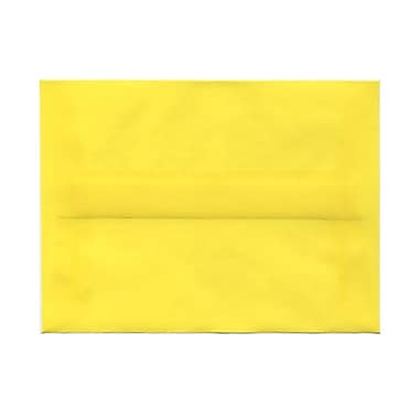 JAM Paper® A6 Invitation Envelopes, 4.75 x 6.5, Yellow Translucent Vellum, 100/Pack (1591712g)