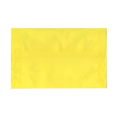 JAM Paper® A10 Invitation Envelopes, 6 x 9.5, Yellow Translucent Vellum, 1000/Pack (PACV856B)