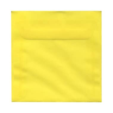 JAM Paper® 6.5 x 6.5 Square Envelopes, Yellow Translucent Vellum, 100/Pack (PACV526g)
