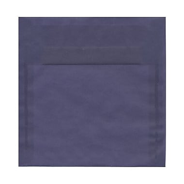 JAM Paper® 8.5 x 8.5 Square Envelopes, Wisteria Purple Translucent Vellum, 100/Pack (1592157g)
