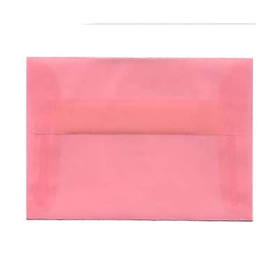 JAM Paper® 4bar A1 Envelopes, 3 5/8 x 5 1/8, Blush Pink Translucent Vellum, 25/pack (1591615)