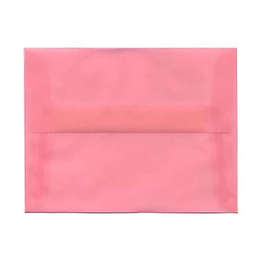 JAM Paper® A2 Invitation Envelopes, 4.38 x 5.75, Blush Pink Translucent Vellum, 100/Pack (PACV618g)