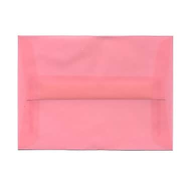 JAM Paper® A6 Invitation Envelopes, 4.75 x 6.5, Blush Pink Translucent Vellum, 100/Pack (PACV663g)