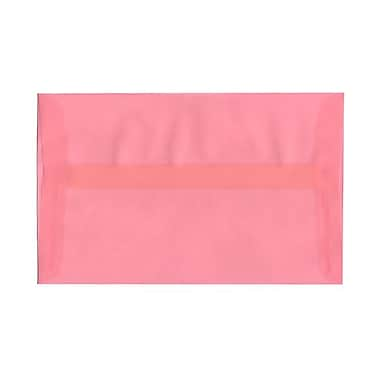 JAM Paper® A10 Invitation Envelopes, 6 x 9.5, Translucent Vellum Blush Pink, 1000/Pack (PACV868B)