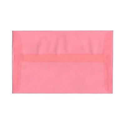 JAM Paper® A10 Invitation Envelopes, 6 x 9.5, Translucent Vellum Blush Pink, 25/pack (PACV868)