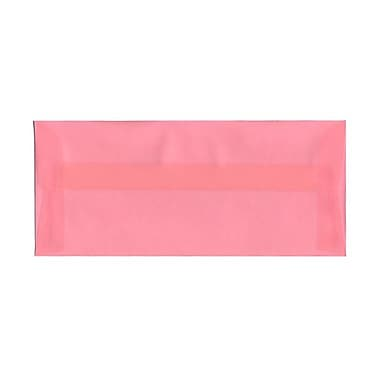 JAM Paper® #10 Business Envelopes, 4 1/8 x 9.5, Blush Pink Translucent Vellum, 100/Pack (PACV368g)