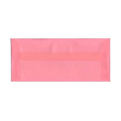 JAM Paper® #10 Business Envelopes, 4 1/8 x 9 1/2, Blush Pink Translucent Vellum, 25/pack (PACV368)
