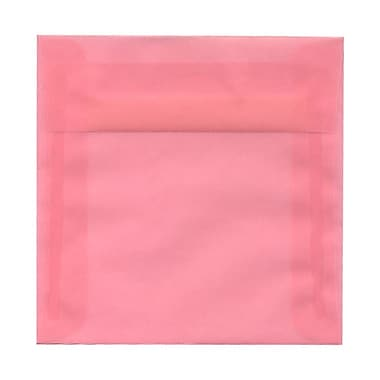 JAM Paper® 6 x 6 Square Envelopes, Blush Pink Translucent Vellum, 100/Pack (1591931g)