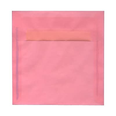 JAM Paper® 8.5 x 8.5 Square Envelopes, Blush Pink Translucent Vellum, 25/pack (PACV598)