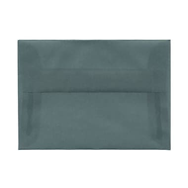 JAM Paper® 4bar A1 Envelopes, 3.63 x 5 1/8, Ocean Blue Translucent Vellum, 100/Pack (1591614g)