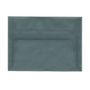 JAM Paper® A7 Invitation Envelopes, 5.25 x 7.25, Ocean Blue Translucent Vellum, 100/Pack (1591743g)
