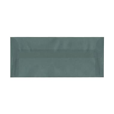 JAM Paper® #10 Business Envelopes, 4 1/8 x 9.5, Ocean Blue Translucent Vellum, 100/Pack (PACV352g)