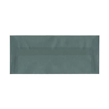 JAM PaperMD – Enveloppes en papier vélin translucide avec fermeture gommée, 4 1/8 x 9 1/2 po, bleu océan, paquet de 100