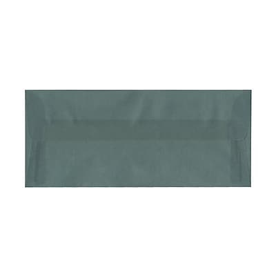 JAM Paper® #10 Business Envelopes, 4 1/8 x 9 1/2, Ocean Blue Translucent Vellum, 25/pack (PACV352)