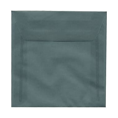 JAM Paper 6.5 x 6.5 Square Envelopes, Ocean Blue Translucent Vellum, 100/Pack (1592117g)