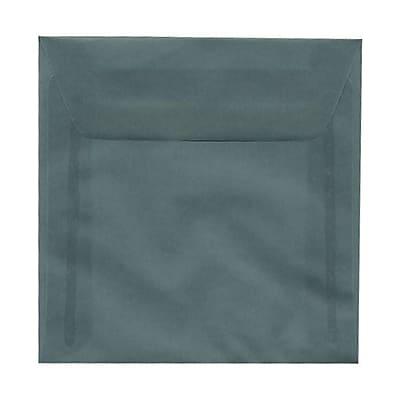 JAM Paper® 5.5 x 5.5 Square Envelopes, Ocean Blue Translucent Vellum, 25/pack (PACV502)