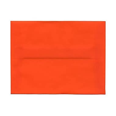 JAM Paper® A2 Invitation Envelopes, 4 3/8 x 5 3/4, Orange Translucent Vellum, 25/pack (PACV619)