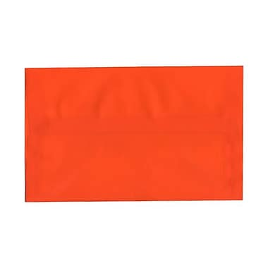 JAM Paper® A10 Invitation Envelopes, 6 x 9.5, Orange Translucent Vellum, 25/pack (PACV869)