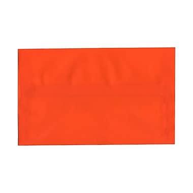 JAM Paper® A10 Invitation Envelopes, 6 x 9.5, Orange Translucent Vellum, 100/Pack (PACV869g)