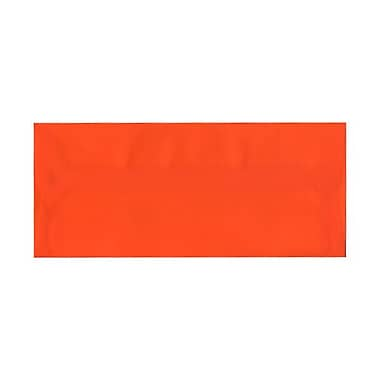 JAM Paper® #10 Business Envelopes, 4 1/8 x 9 1/2, Orange Translucent Vellum , 25/pack (PACV369)