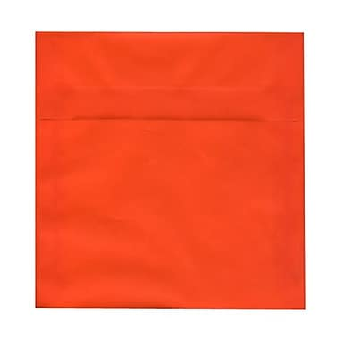 JAM Paper® 8.5 x 8.5 Square Envelopes, Orange Translucent Vellum, 100/Pack (1592163g)