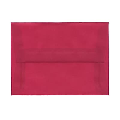 JAM Paper® A6 Invitation Envelopes, 4.75 x 6.5, Magenta Pink Translucent Vellum, 25/pack (1591681)