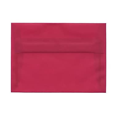 JAM Paper® A7 Invitation Envelopes, 5.25 x 7.25, Magenta Pink Translucent Vellum, 100/Pack (1591720g)
