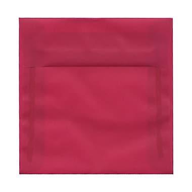 JAM Paper® 6 x 6 Square Envelopes, Magenta Pink Translucent Vellum, 1000/Pack (1591922B)