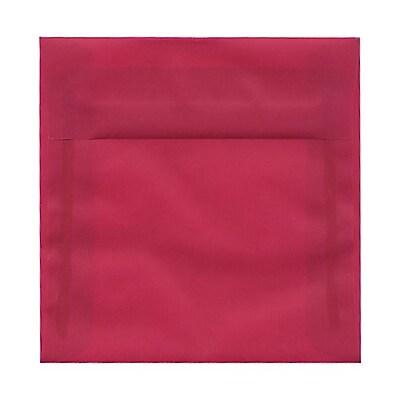 JAM Paper® 6 x 6 Square Envelopes, Magenta Pink Translucent Vellum, 25/pack (1591922)