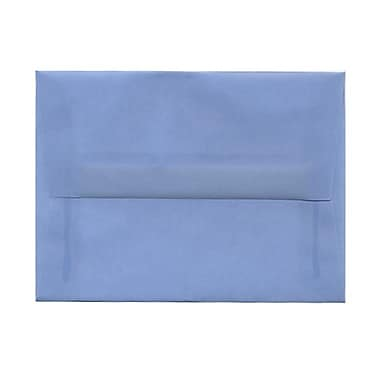 JAM Paper® A6 Invitation Envelopes, 4.75 x 6.5, Surf Blue Translucent Vellum, 100/Pack (1591692g)