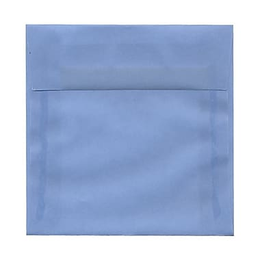 JAM Paper® 6 x 6 Square Envelopes, Surf Blue Translucent Vellum, 100/Pack (1591925g)