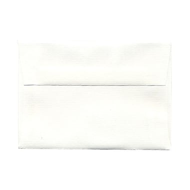 JAM Paper® 4bar A1 Envelopes, 3.63 x 5 1/8, Strathmore Bright White Laid, 100/Pack (900911330g)