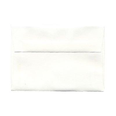 JAM Paper® 4bar A1 Envelopes, 3 5/8 x 5 1/8, Strathmore Bright White Laid, 25/pack (900911330)