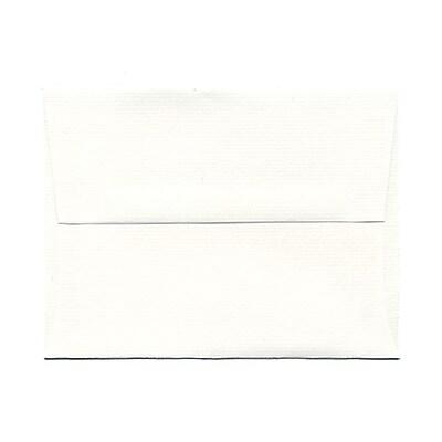 JAM Paper® A2 Invitation Envelopes, 4 3/8 x 5 3/4, Strathmore Bright White Laid, 1000/carton (99118B)
