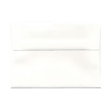 JAM Paper® A7 Invitation Envelopes, 5.25 x 7.25 Strathmore Bright White Laid, 100/Pack (3TTL711g)