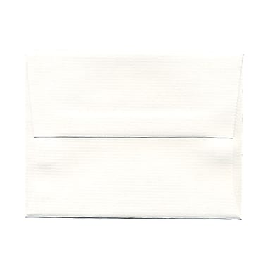 JAM Paper® A2 Invitation Envelopes, 4.38 x 5.75, Strathmore Bright White Pinstripe, 100/Pack (43432g)
