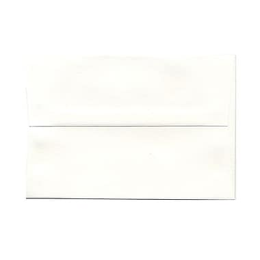 JAM Paper® A8 Invitation Envelopes, 5.5 x 8.125, Strathmore Bright White Pinstripe, 100/Pack (191212g)
