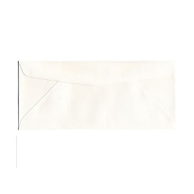 JAM Paper® Booklet Pinstripe Strathmore Envelopes with Gum Closure, 4-1/8