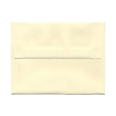 JAM Paper® A2 Invitation Envelopes, 4.38 x 5.75, Strathmore Ivory Laid, 100/Pack (191158g)