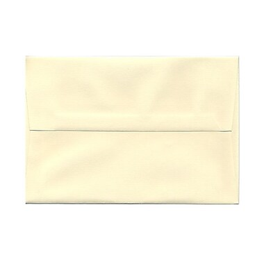 JAM Paper® A8 Invitation Envelopes, 5.5 x 8.125, Strathmore Ivory Laid, 25/pack (90810172)