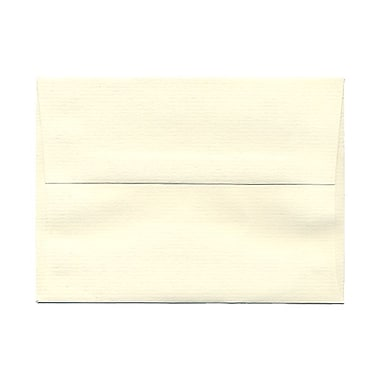 JAM Paper® A6 Invitation Envelopes, 4.75 x 6.5, Strathmore Natural White Laid, 100/Pack (29376g)