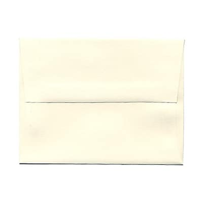 JAM Paper® A2 Invitation Envelopes, 4 3/8 x 5 3/4, Strathmore Natural White Linen, 25/pack (99761)