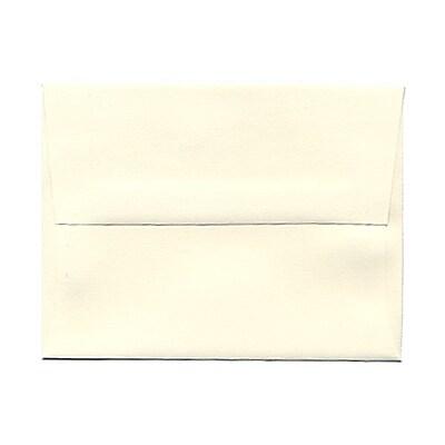 JAM Paper® A2 Invitation Envelopes, 4 3/8 x 5 3/4, Strathmore Natural White Linen, 1000/carton (99761B)