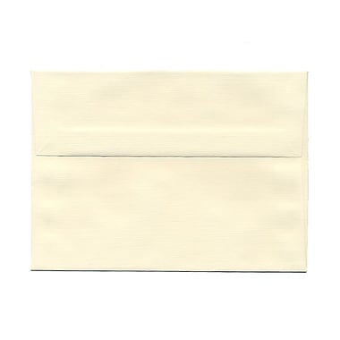 JAM Paper® A7 Invitation Envelopes, 5.25 x 7.25 Strathmore Natural White Linen, 100/Pack (82011g)
