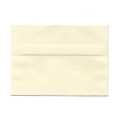JAM Paper® A7 Invitation Envelopes, 5.25 x 7.25 Strathmore Natural White Linen, 25/pack (82011)