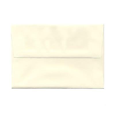 JAM Paper® A8 Invitation Envelopes, 5.5 x 8.125, Strathmore Natural White Linen, 25/pack (59763)