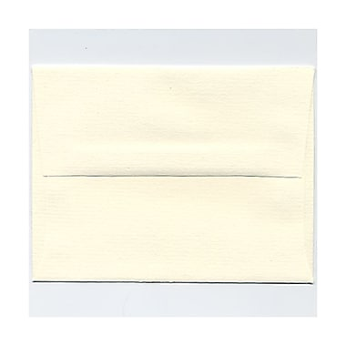 JAM Paper® A2 Invitation Envelopes, 4 3/8 x 5 3/4, Strathmore Natural White Pinstripe, 1000/carton (50170B)