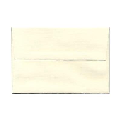 JAM Paper® A8 Invitation Envelopes, 5.5 x 8.125 Strathmore Natural White Pinstripe, 25/pack (191213)