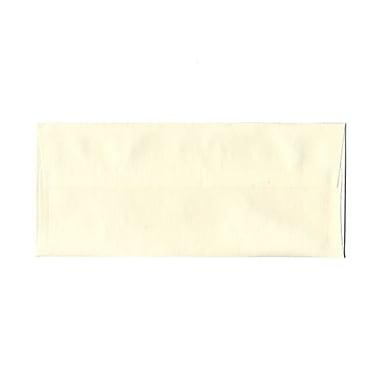 JAM PaperMD – Enveloppes livret Strathmore avec fermeture gommée, fines rayures, 4 1/8 x 9 1/2 po, blanc naturel, 1000/pqt