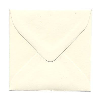 JAM Paper® 3.125 x 3.125 Mini Square Envelopes, Strathmore Natural White Wove, 25/pack (111250)